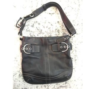 Awesome Condition Black Coach Bag w/ 2 Buckles